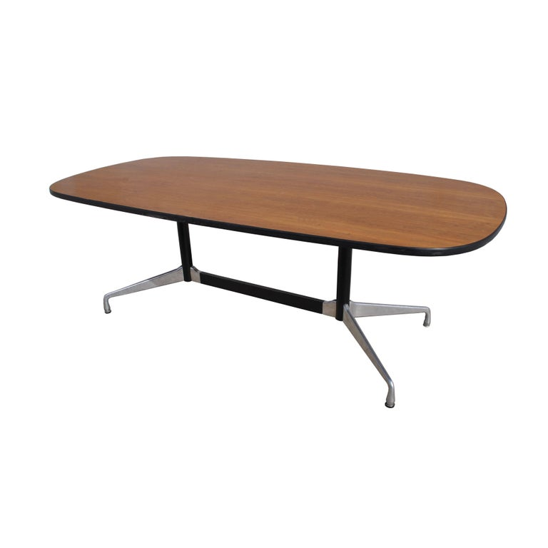 Mid Century Eames Herman Miller Ft Walnut Conference Table For Sale - 7 ft conference table
