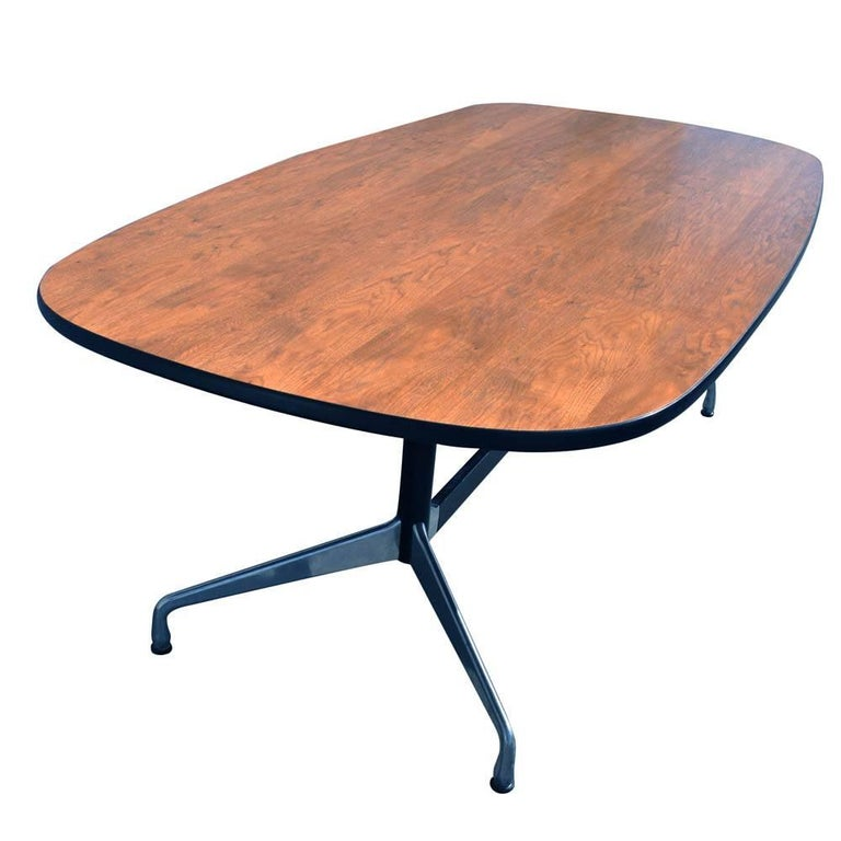 Mid-Century Modern Mid Century Eames Herman Miller 7ft Walnut Conference Table SALE For Sale