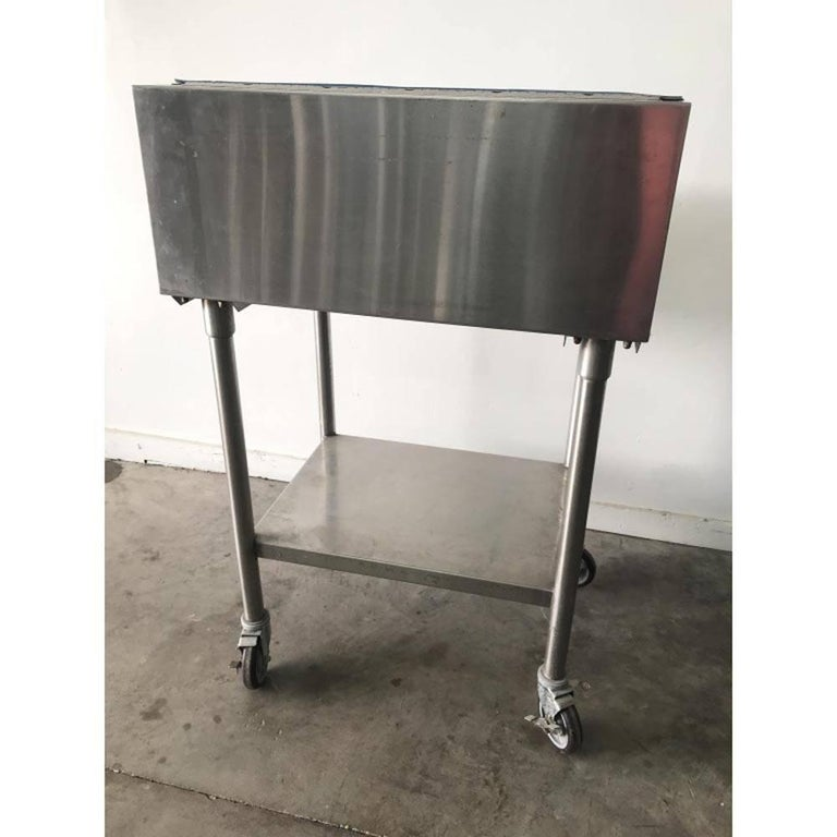 American Industrial Factory Stainless Steel Standing Desk For Sale