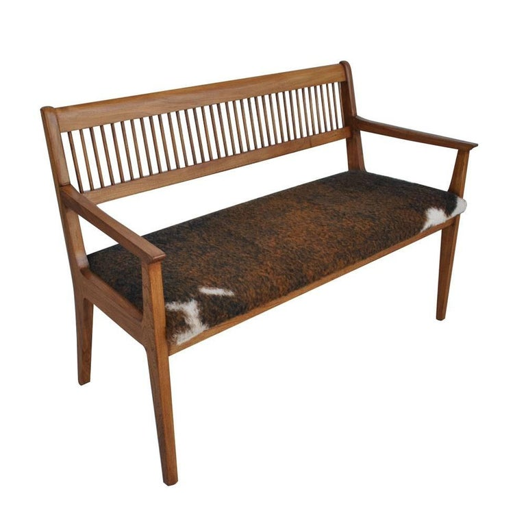 Vintage Midcentury Drexel John Van Koert Profile Series Bench For Sale