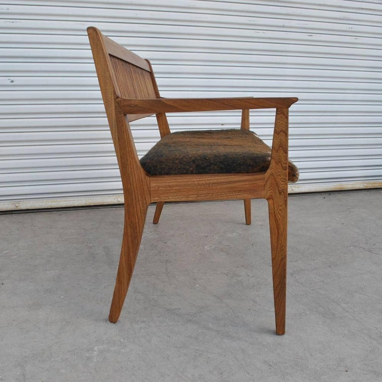 Vintage Midcentury Drexel John Van Koert Profile Series Bench In Good Condition For Sale In Pasadena, TX