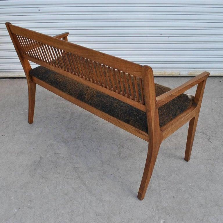 American Vintage Midcentury Drexel John Van Koert Profile Series Bench For Sale