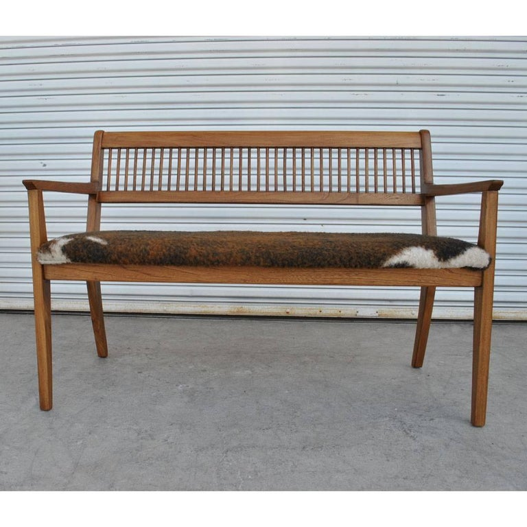 Vintage Midcentury Drexel John Van Koert Profile Series Bench For Sale 1