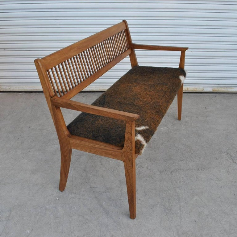 20th Century Vintage Midcentury Drexel John Van Koert Profile Series Bench For Sale