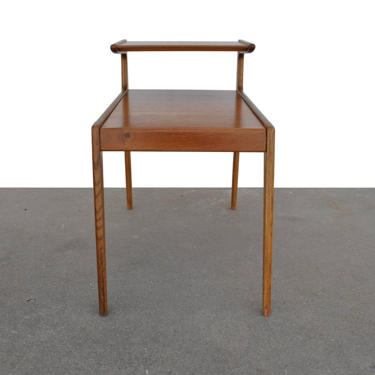 Mid-Century Modern Vintage Pair of Kurt Ostervig Two-Tiered End Tables For Sale
