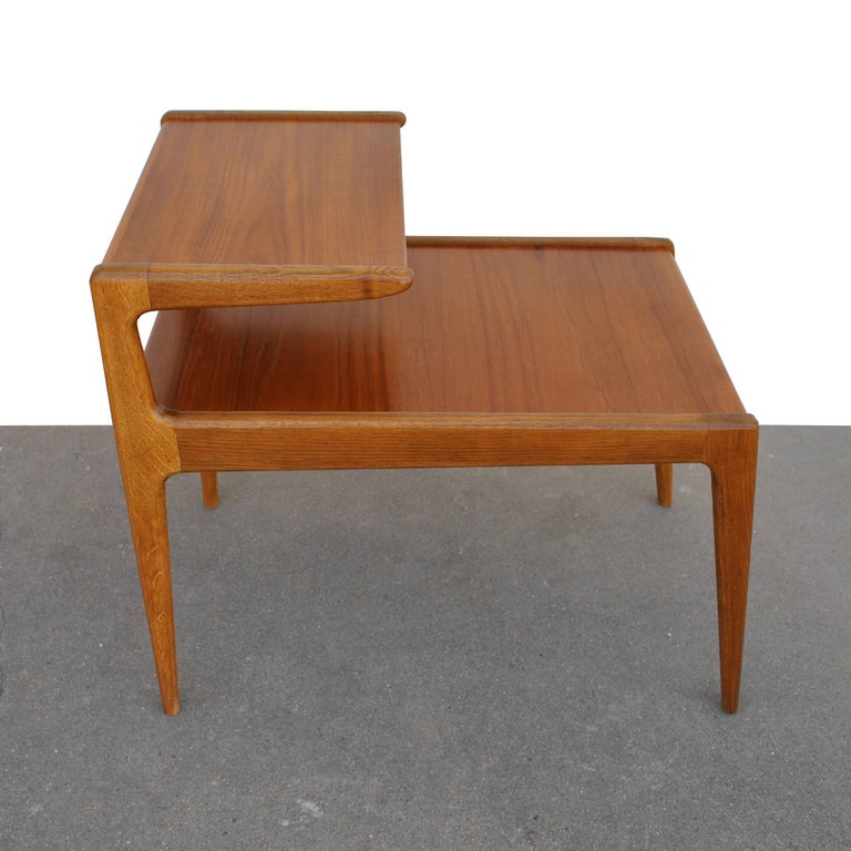 20th Century Vintage Pair of Kurt Ostervig Two-Tiered End Tables For Sale