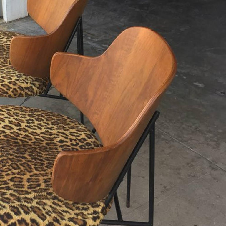 Mid-Century Modern Two Vintage Danish Larsen Kofod Penguin Lounge Chairs For Sale