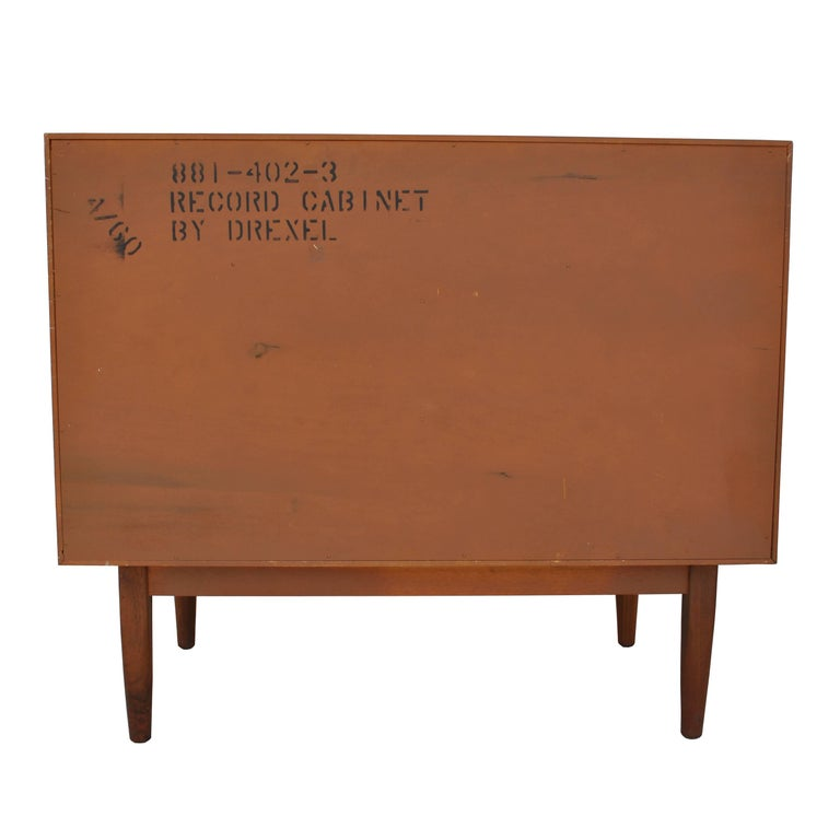 Vintage Midcentury Kipp Stewart for Drexel Declaration Walnut Record Cabinet For Sale 1