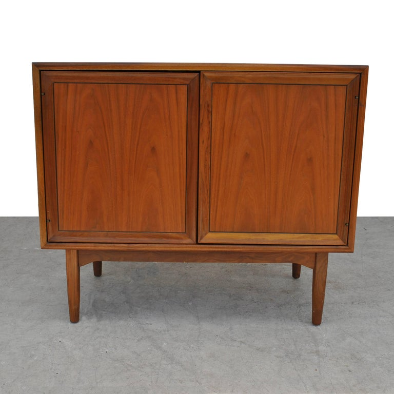 Mid-Century Modern Vintage Midcentury Kipp Stewart for Drexel Declaration Walnut Record Cabinet For Sale