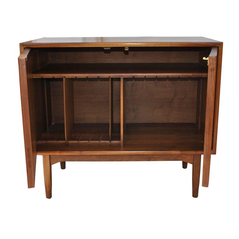 Mid-20th Century Vintage Midcentury Kipp Stewart for Drexel Declaration Walnut Record Cabinet For Sale