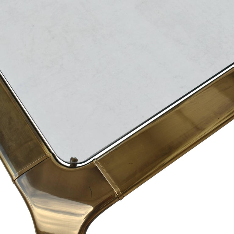 Vintage Midcentury Waterfall Brass Coffee Table by Widdicomb For Sale 1