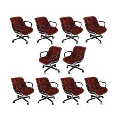 Vintage Midcentury Rust Mohair Pollock Chair