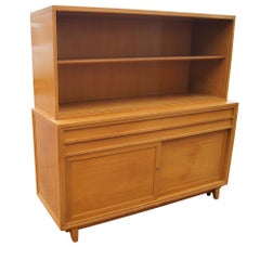 Vintage Mahogany Breakfront Four Shelves