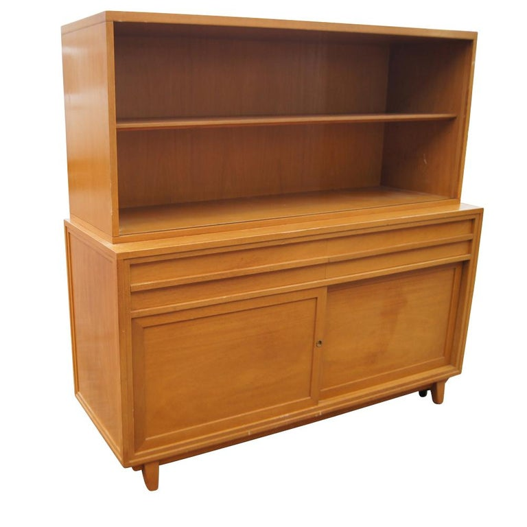 Vintage Mahogany Breakfront Four Shelves For Sale