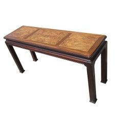 Henredon Burled Mahogany Console Table