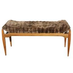 Mid-Century Modern Italian Wood Bench