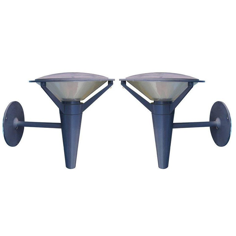 Pair of Urban Kipp Outdoor Wall Sconce by Alfred Homann for Louis Poulsen For Sale