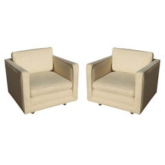 Pair of Lounge Chairs in the Manner of Edward Wormley