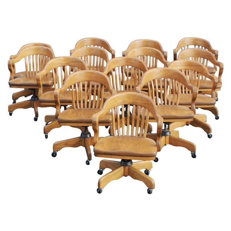 Oak Bank of England Chair For Sale