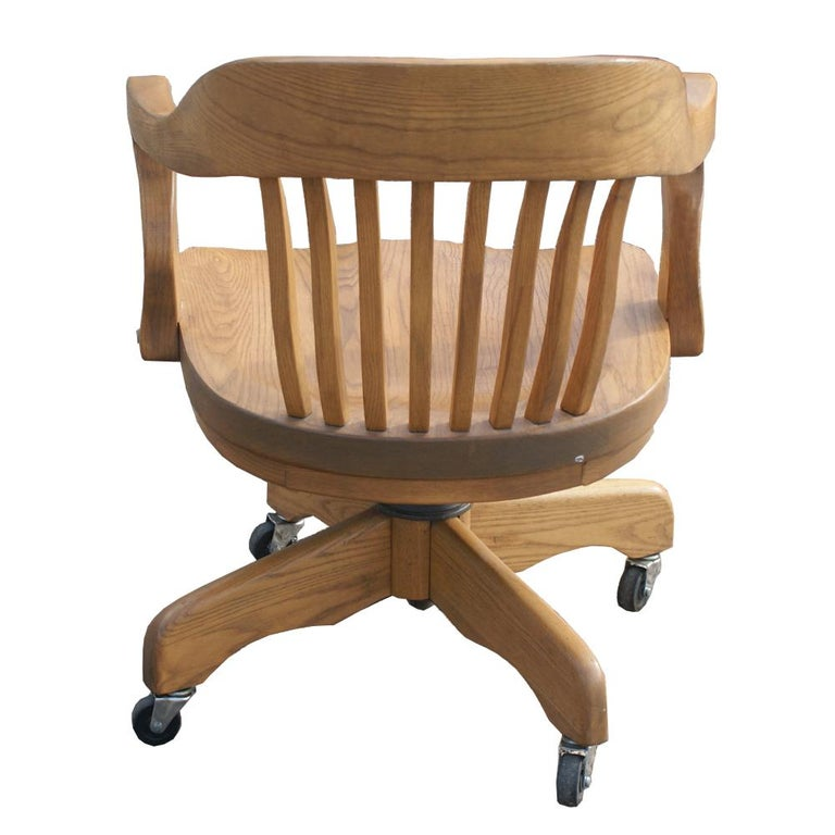 Mid-20th Century Oak Bank of England Chair For Sale