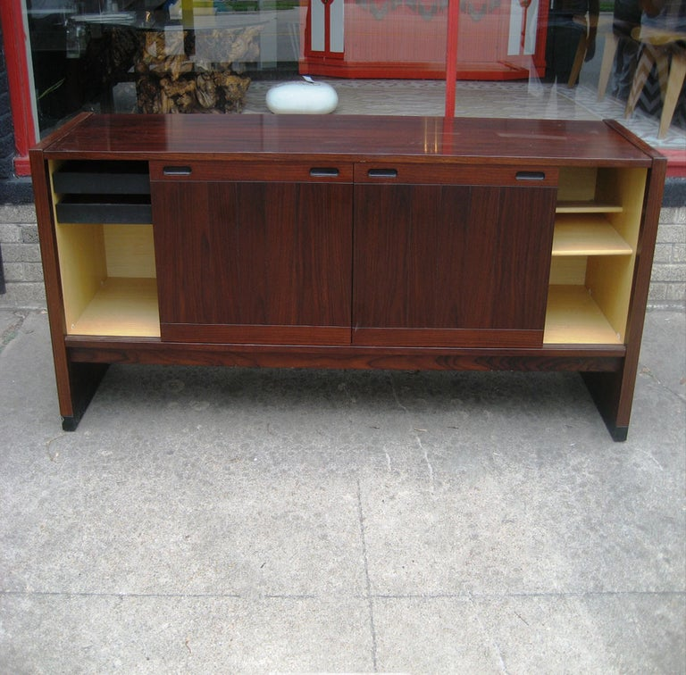 Mid-20th Century Vintage Mid-Century Modern Dyrlund  Rosewood Credenza For Sale