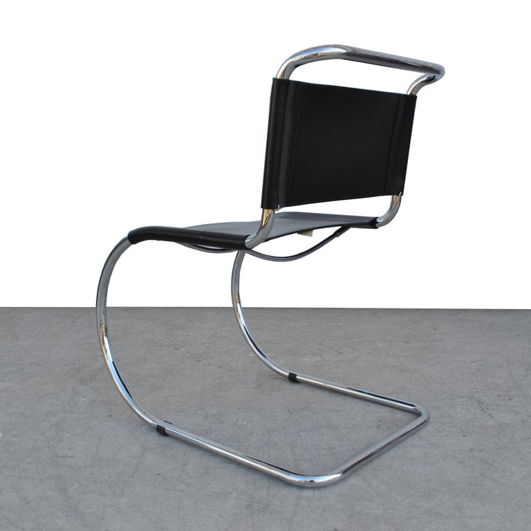 Chrome 1 Tubular MR10 Chair by Ludwig Mies van der Rohe Gordon Int'l For Sale