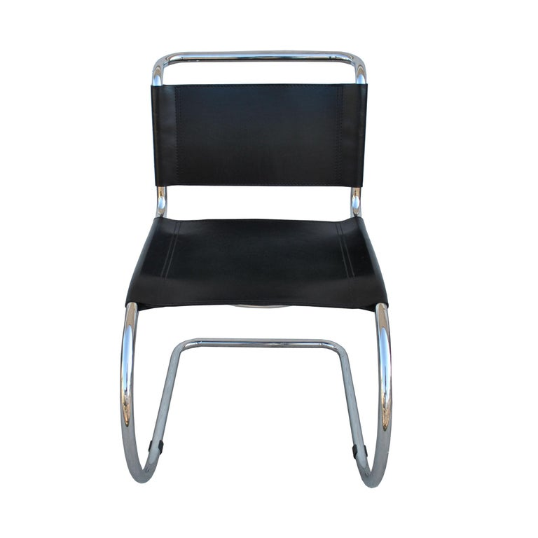 20th Century 1 Tubular MR10 Chair by Ludwig Mies van der Rohe Gordon Int'l For Sale