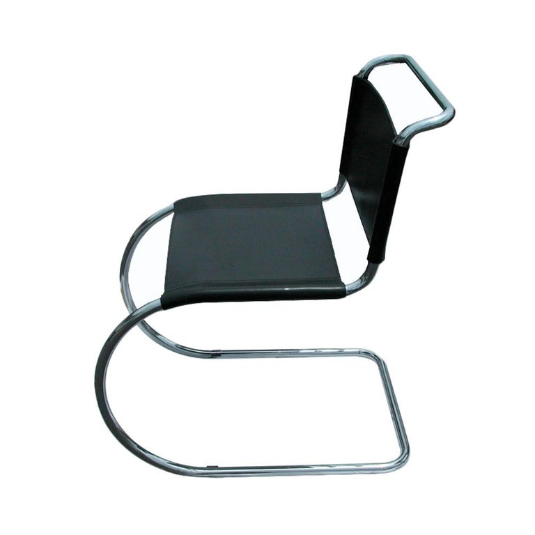 1 Tubular MR10 Chair by Ludwig Mies van der Rohe Gordon Int'l In Good Condition For Sale In Pasadena, TX