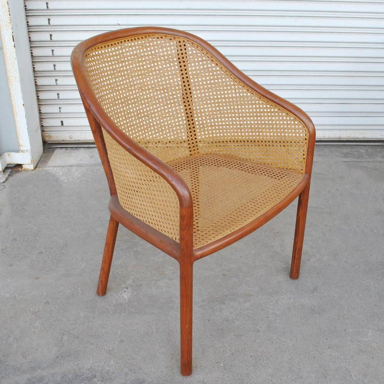 Mid-Century Modern Vintage Pair of Cane Chairs by Ward Bennett for Brickel Associates For Sale