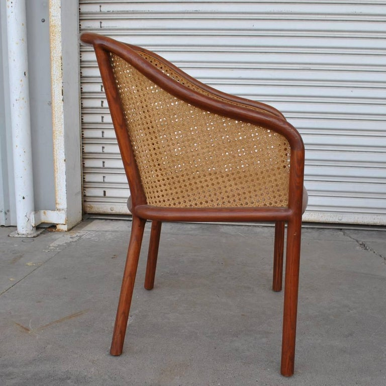 American Vintage Pair of Cane Chairs by Ward Bennett for Brickel Associates For Sale