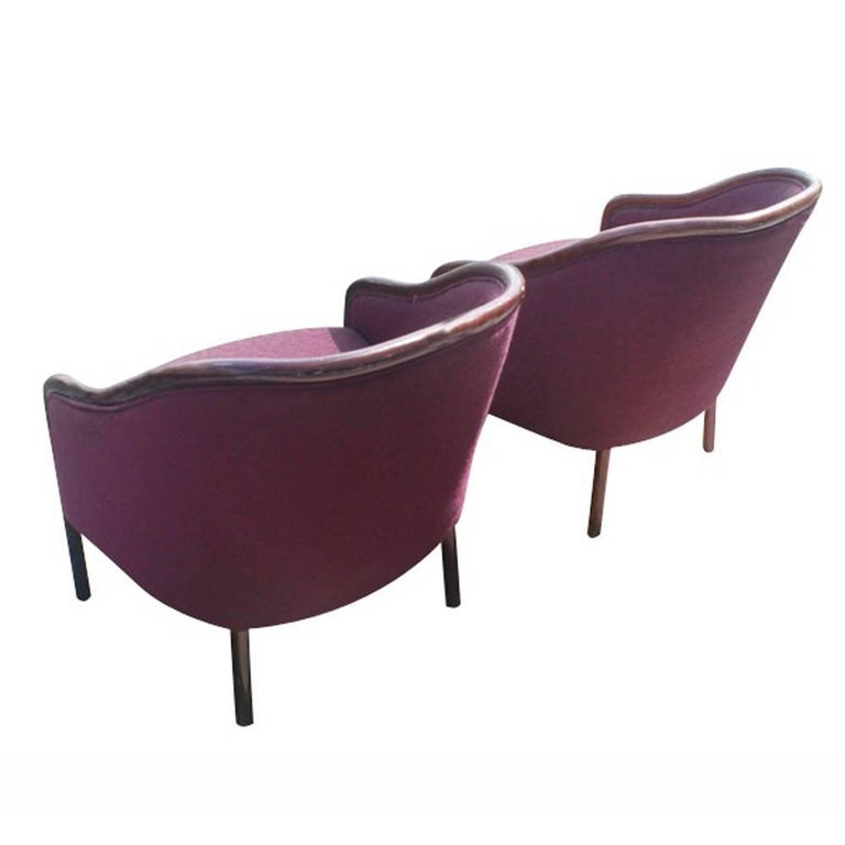 Mid-Century Modern Two Midcentury Ward Bennett Brickel Lounge Chairs For Sale