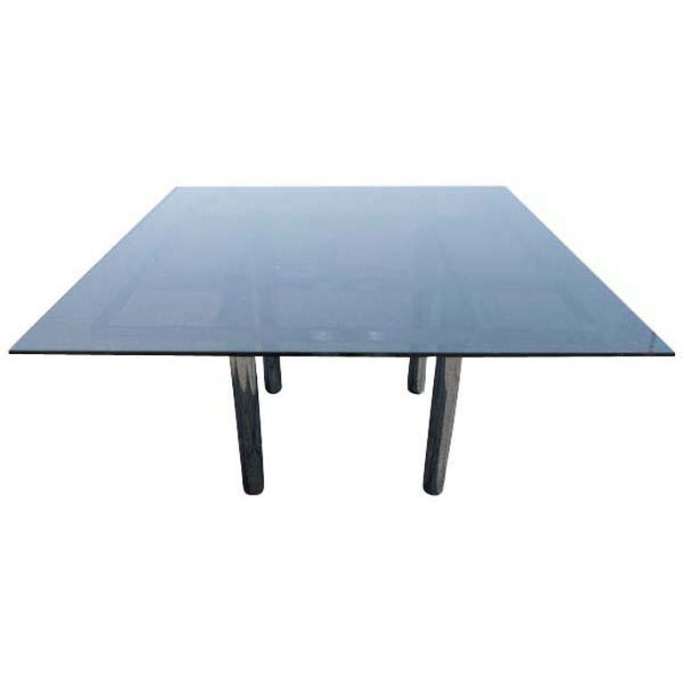 Tobia Scarpa for Knoll Square Andre Dining Table For Sale