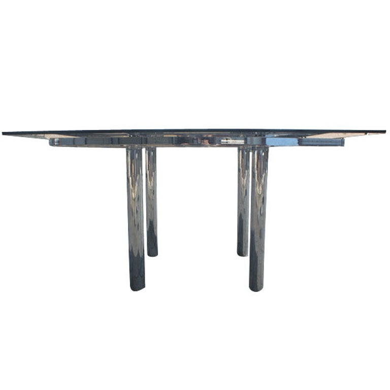 Mid-Century Modern Tobia Scarpa for Knoll Square Andre Dining Table For Sale
