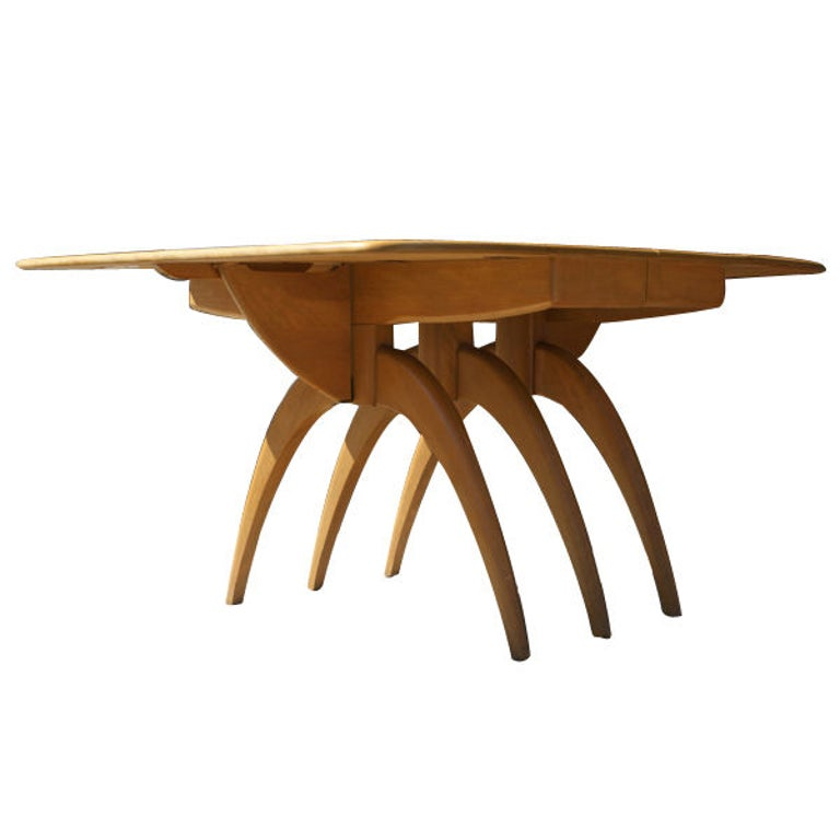Mid-20th Century Heywood Wakefield Butterfly Dining Table For Sale