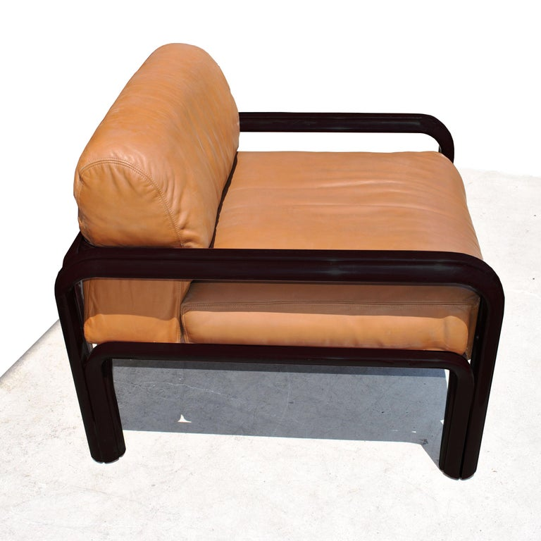 American Pair of Knoll Midcentury Gae Aulenti Lounge Chairs For Sale
