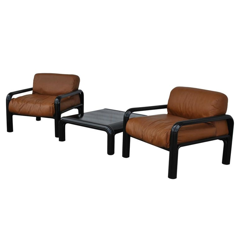 Pair of Knoll Midcentury Gae Aulenti Lounge Chairs For Sale 3