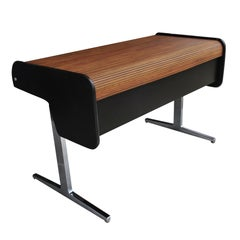 Midcentury Action Office Roll Top Desk George Nelson for H Miller