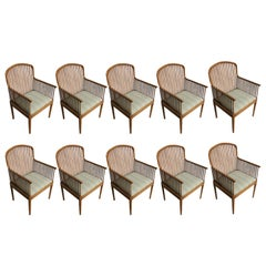 Ten Davis Allen for Knoll Oak Exeter Chairs