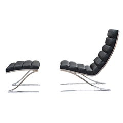 Design Institute of America Lounge Chair and Ottoman