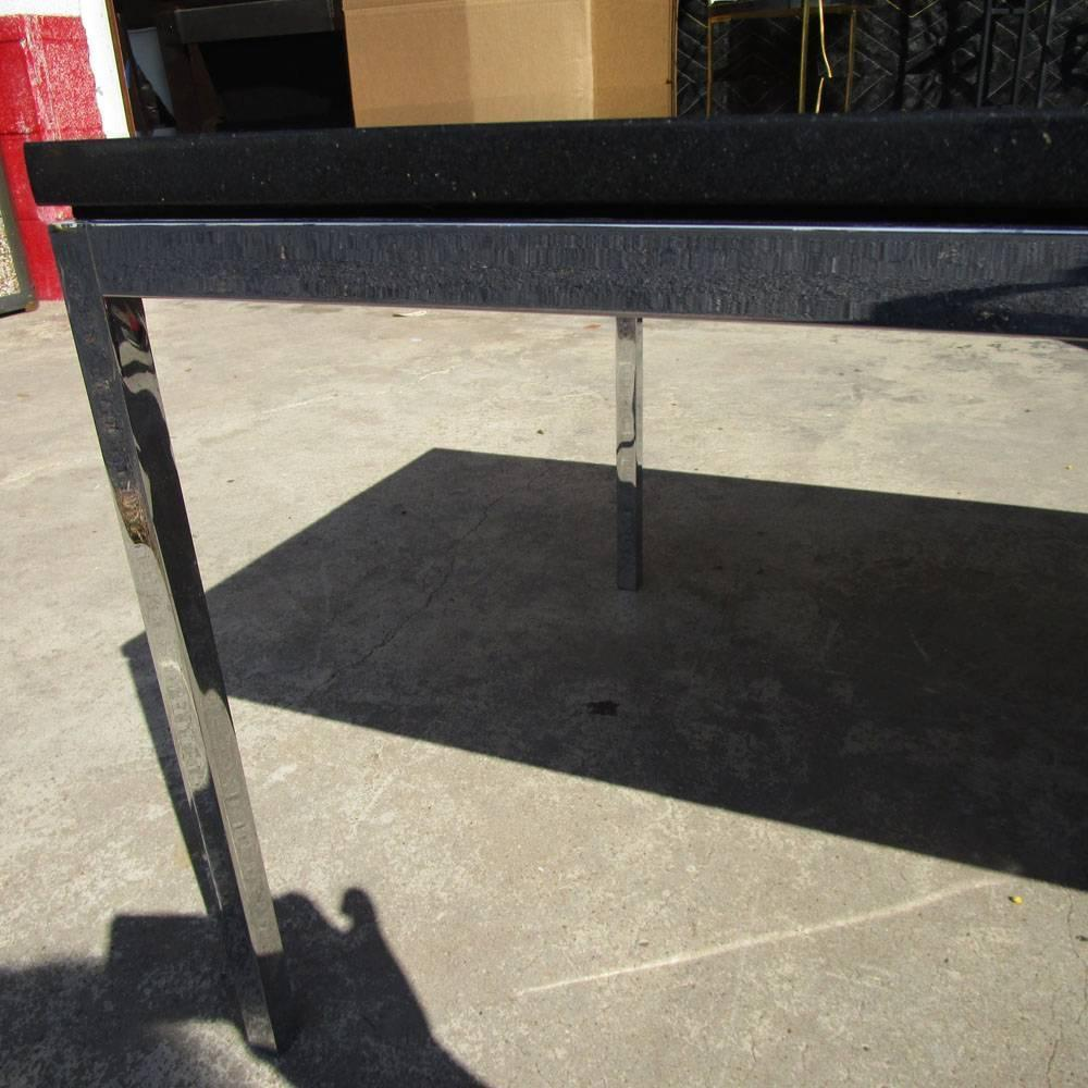 45 Vintage Knoll Coffee Table With Chrome Base And Granite Top For Sale At 1stdibs