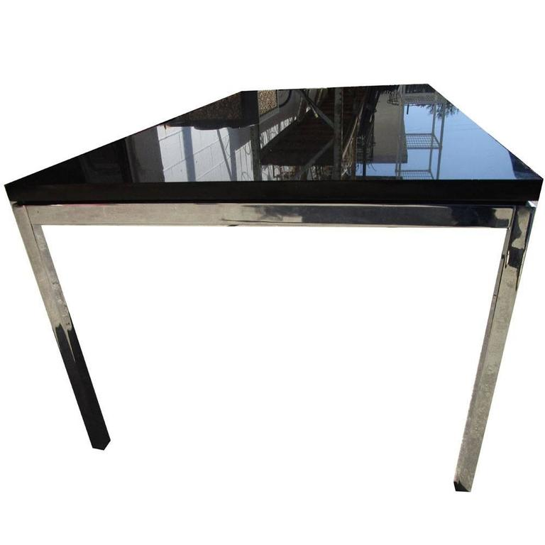 45 vintage florence knoll coffee table with chrome base - Florence knoll rectangular coffee table ...