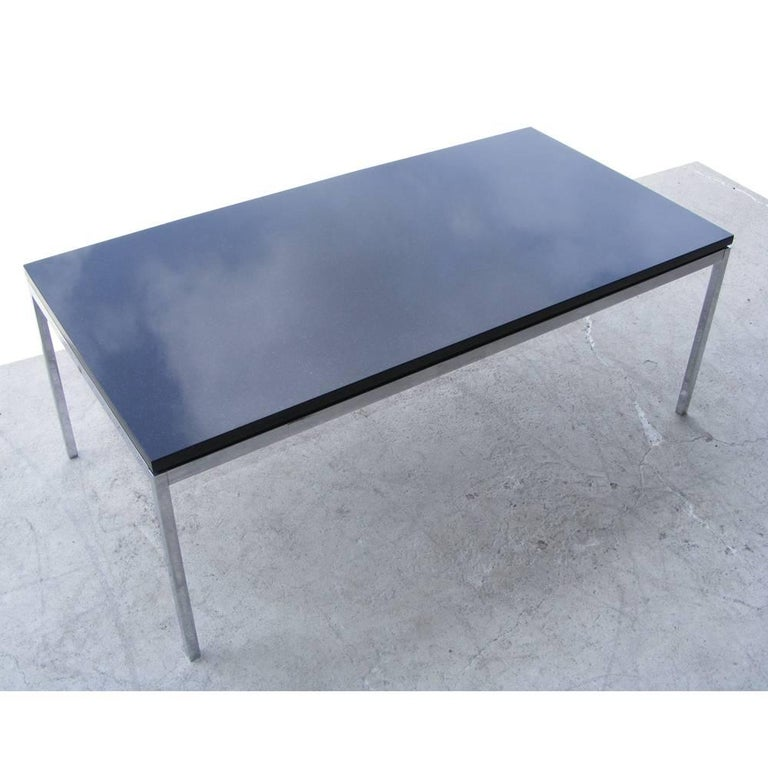 45 Vintage Florence Knoll Coffee Table With Chrome Base And Granite Top At 1stdibs