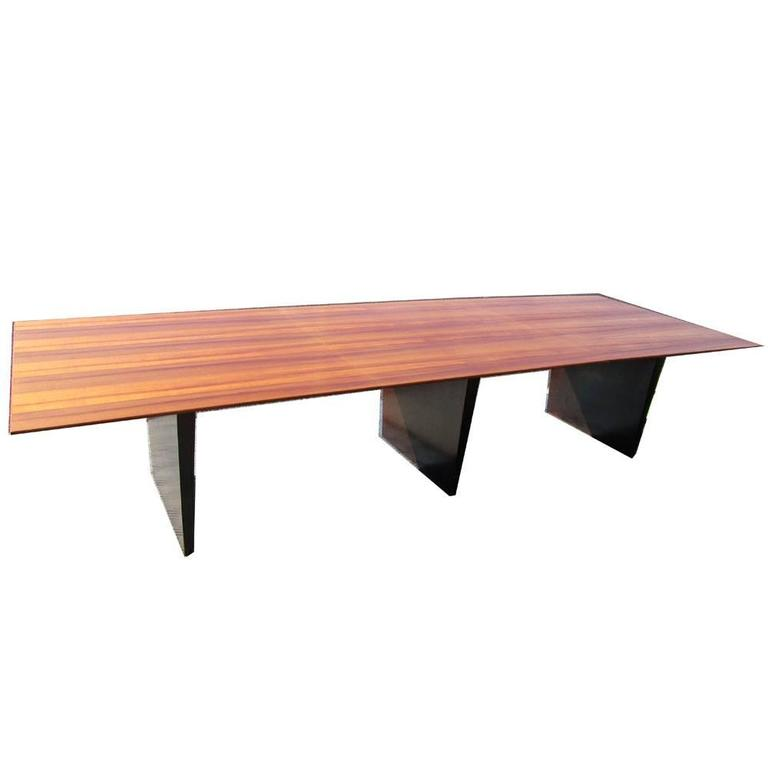 Mid-Century Modern Vintage Wormley Conference or Dining Table for Dunbar For Sale