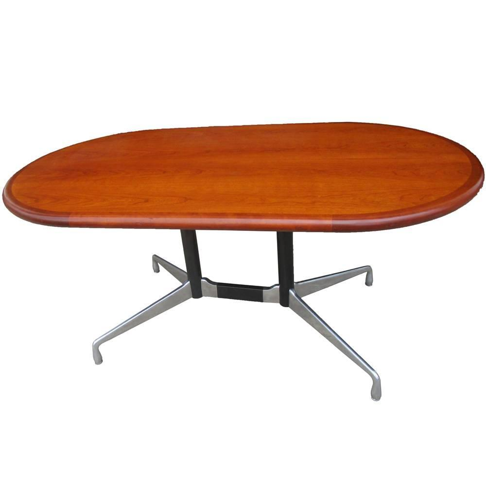 Vintage herman miller table or desk with walnut top at 1stdibs - Vintage herman miller ...