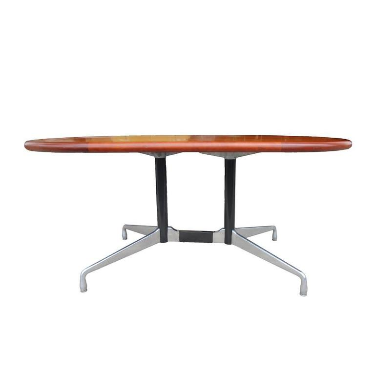 Vintage Herman Miller Table or Desk with Walnut Top 2