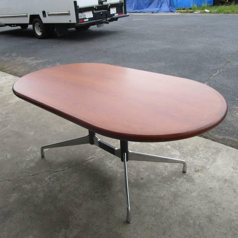 Mid-Century Modern Vintage Herman Miller Table or Desk with Walnut Top For Sale