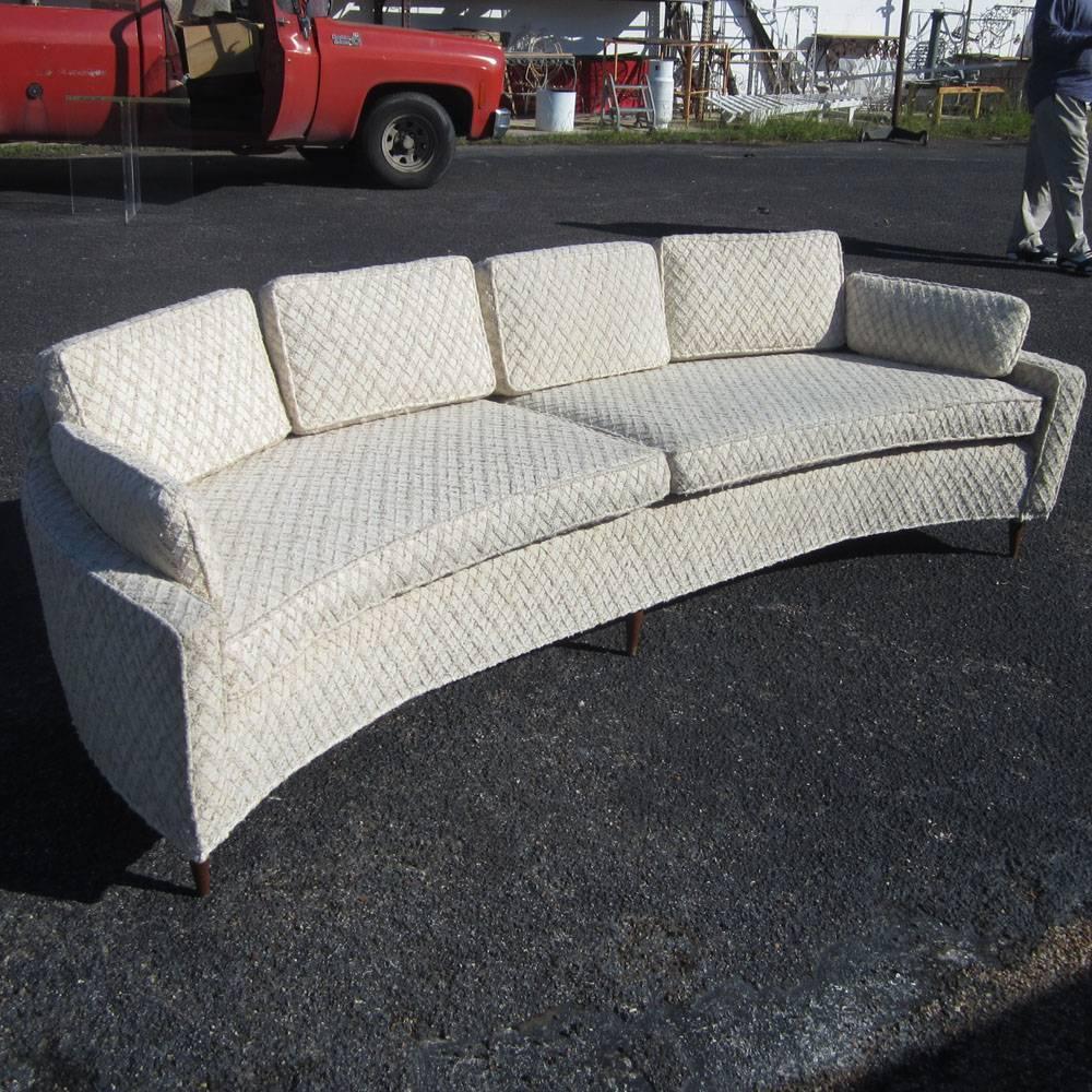 Vintage Harvey Probber Style Curved Sofa For Sale At 1stdibs