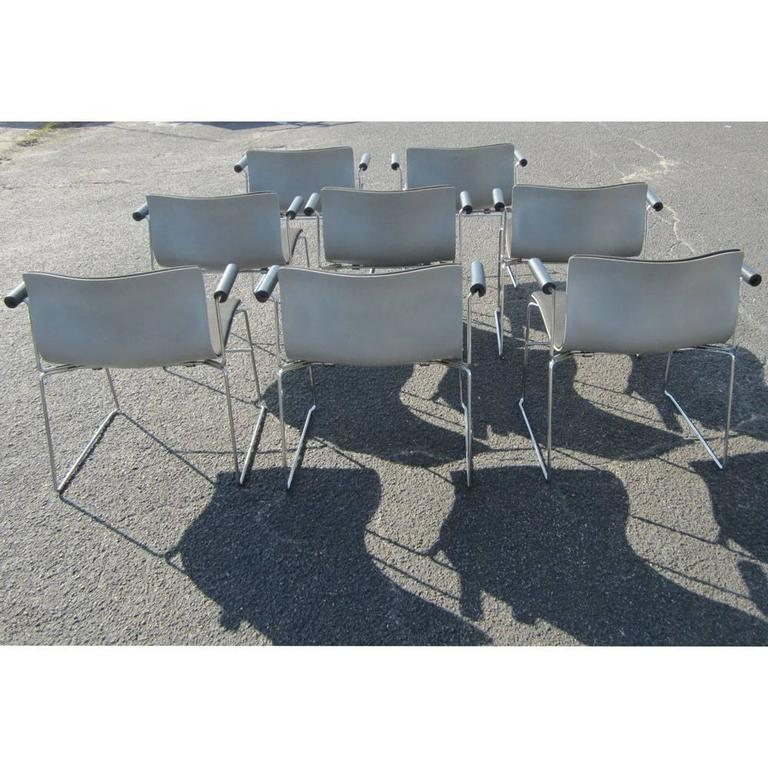 20th Century Vintage Set of Eight Handkerchief Armchairs by Vignelli for Knoll For Sale