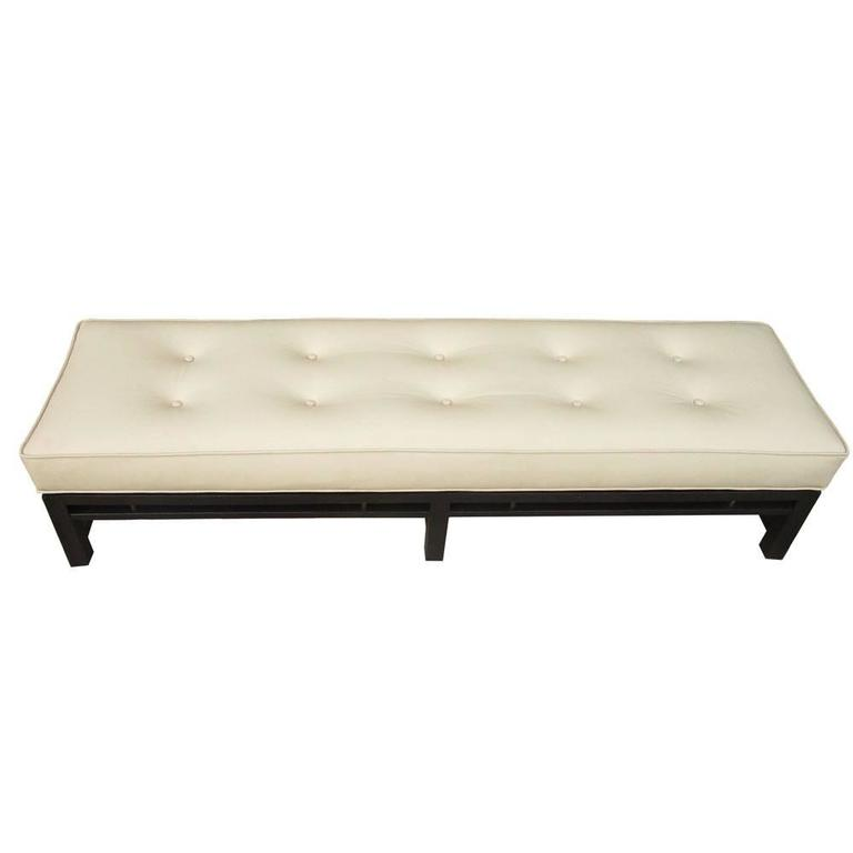 Vintage Edward Wormley leather Bench for Dunbar For Sale