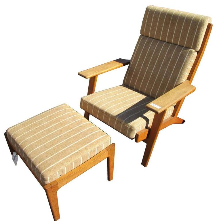 Phenomenal Original Upholstery Hans Wegner Lounge Chair With Ottoman For Getama Gmtry Best Dining Table And Chair Ideas Images Gmtryco